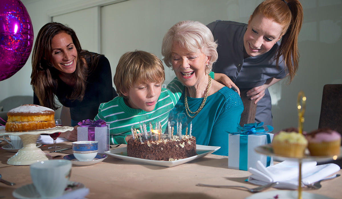 A Heathfield Court resident celebrates a birthday
